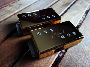 Revel Wide Range Humbuckers with Gold Covers